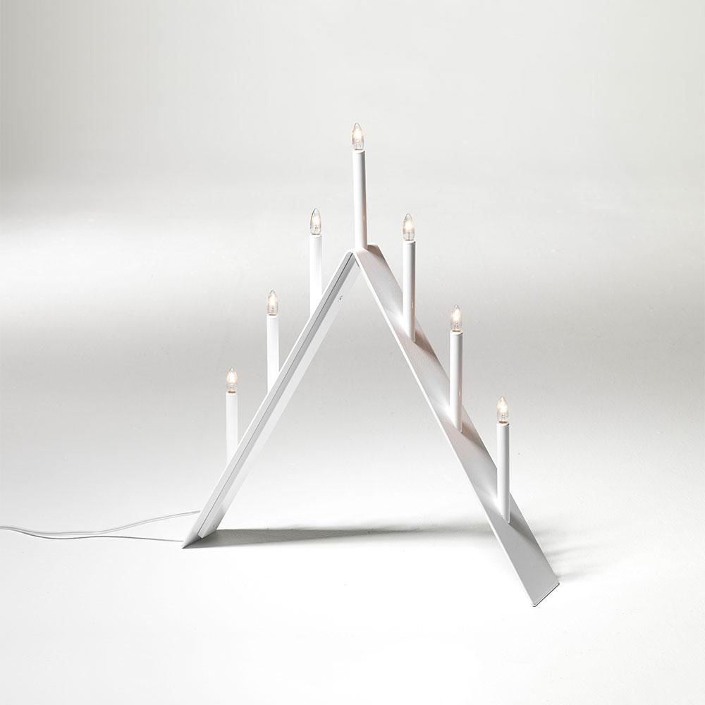 Spica Adventsljusstake 7, Vit, SMD Design