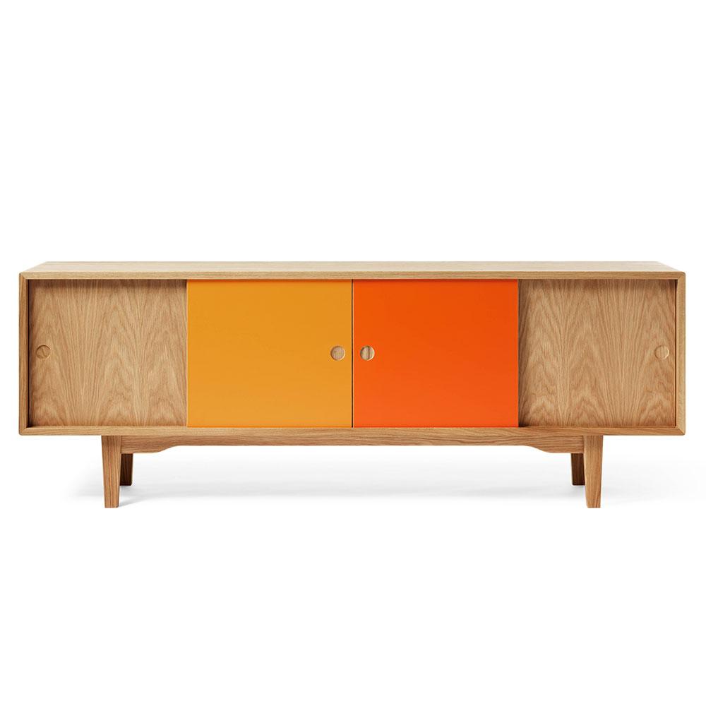 Moodi 180 Mediabänk, Retro Orange, Zweed