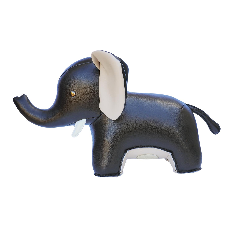 Bokstöd Elefant Abby, Svart, Züny