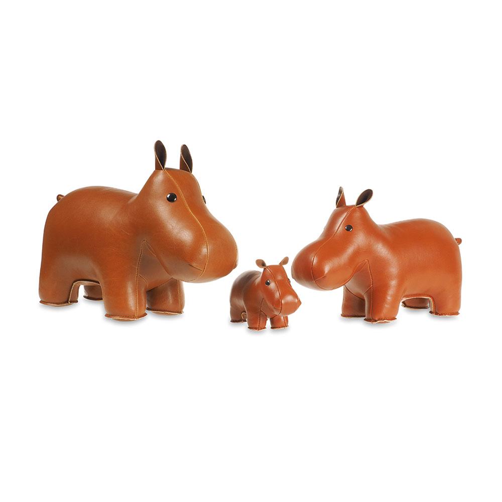 Brevpress Flodhäst, Brun, Züny