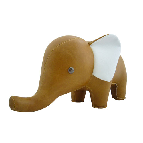 Bokstöd Elefant Brun
