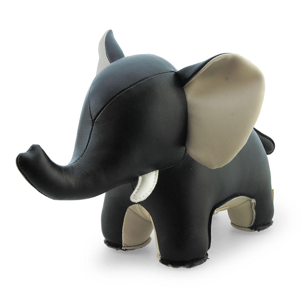 Bokstöd Elefant Svart