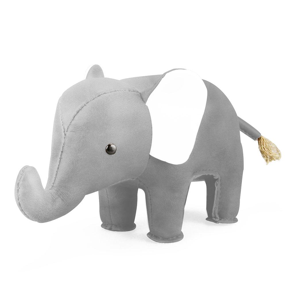 Brevpress Elefant Grå