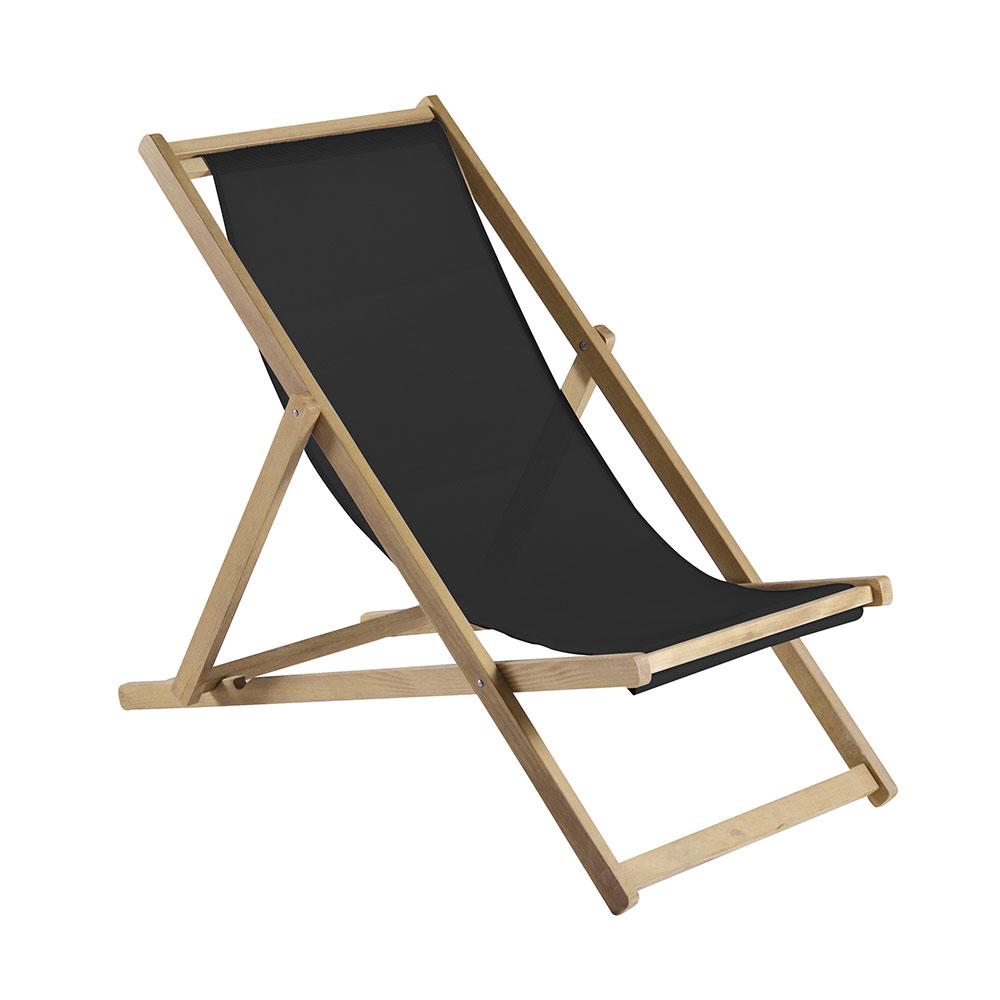 Relax solstol svart francesco favagrossa fiam for Design liegestuhl