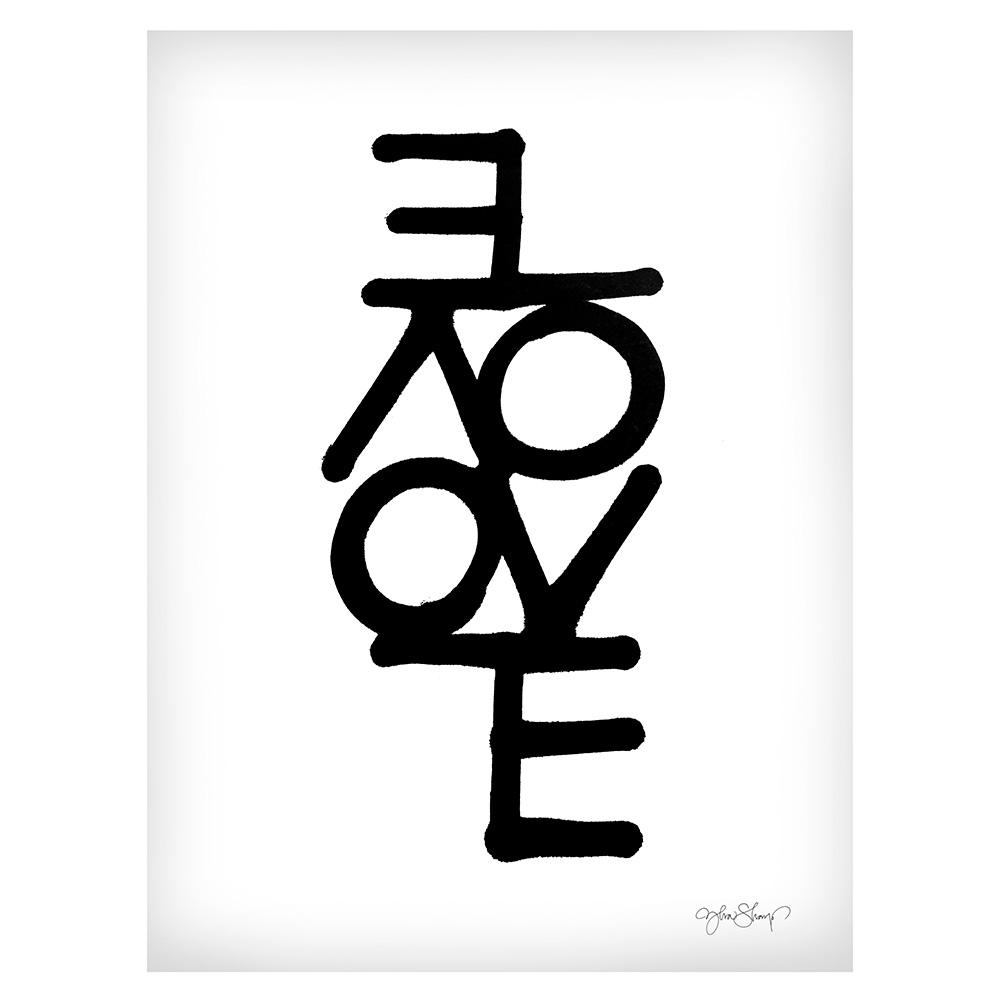 Love Poster 30×40 cm Vit