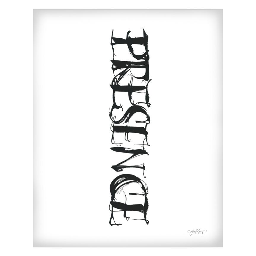 Presence Poster 50×70 cm