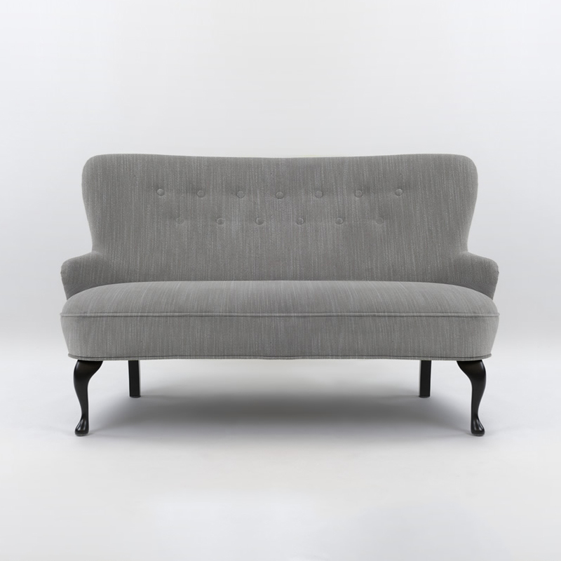 April Soffa Ducale Grey Klassisk/Svartbetsade