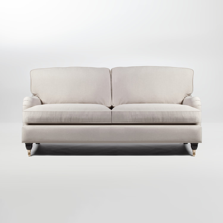 Mayfair Howard 2,5-Sits Soffa Beige Svart/Krom