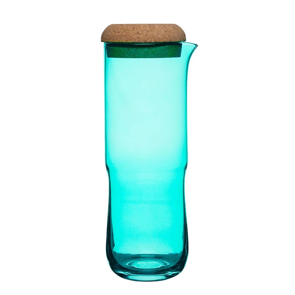 Aqua Karaff Med Lock, Grön, SEA Glasbruk