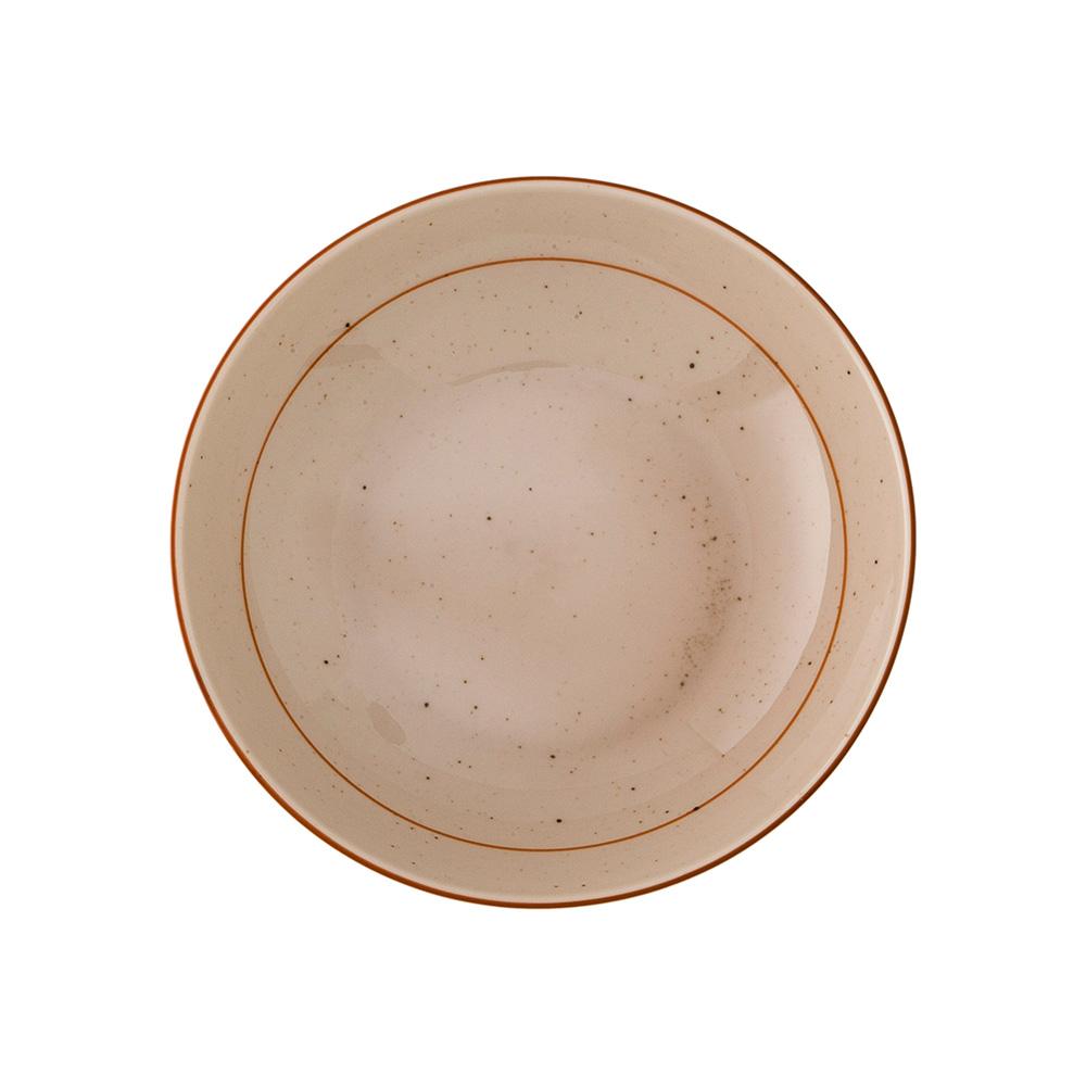 Rustikk Djup Tallrik 17 cm Sand