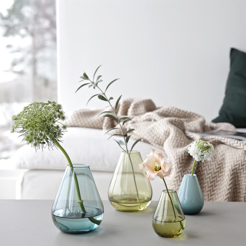 Falla Glasvas 15cm, Grön, Wik & Walsøe
