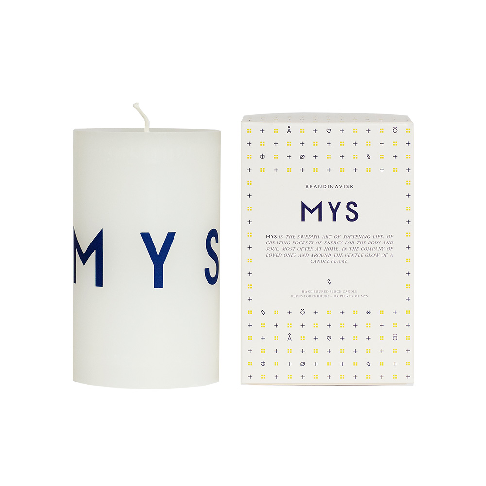 Mys Blockljus 12cm, Vit, Skandinavisk