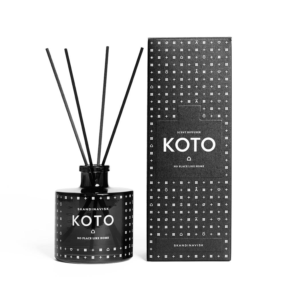 Koto Doftspridare 200ml, Svart/Klar, Skandinavisk