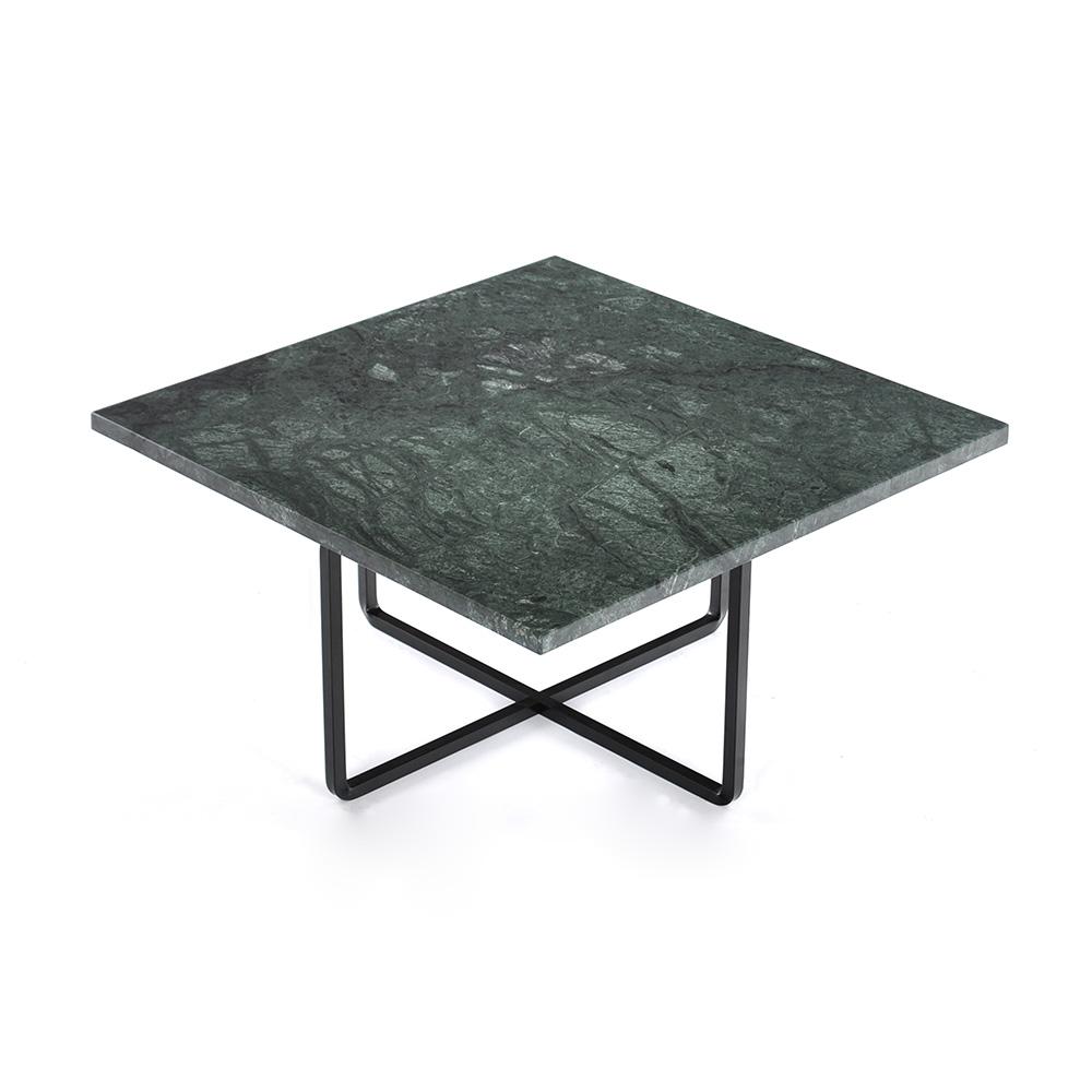 Ninety Soffbord 60x60x30 cm Grön Marmor/Svart