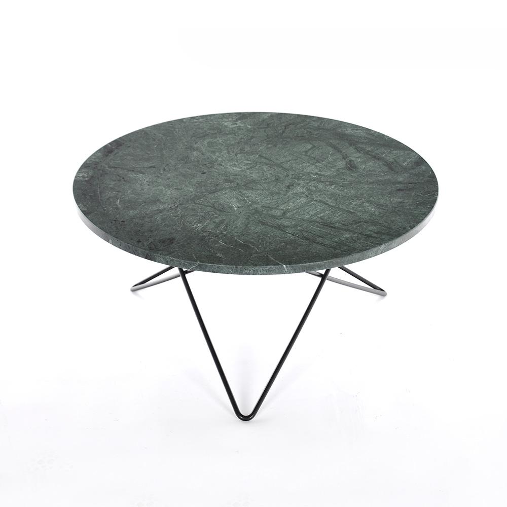O Soffbord Grön Marmor/Svart