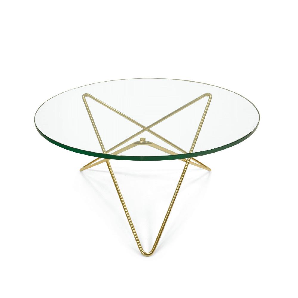 O Soffbord, Mässing Grönt Glas Dennis Marquart OX Denmarq RoyalDesign se