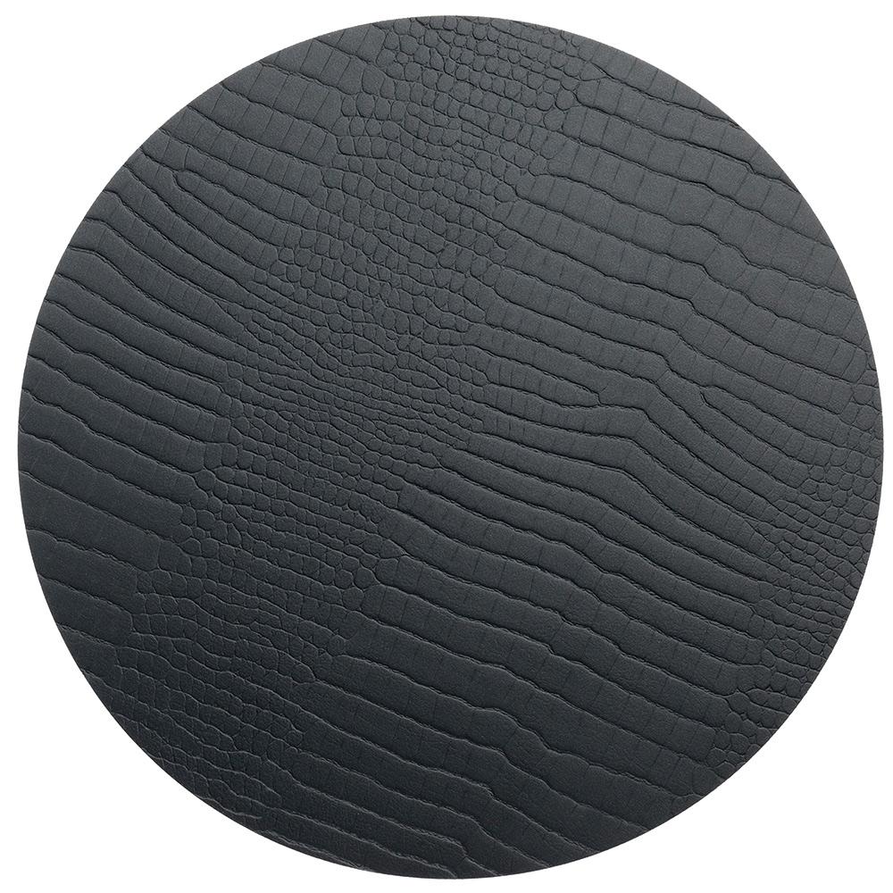 Circle S Grytunderlägg ø24cm Croco Black
