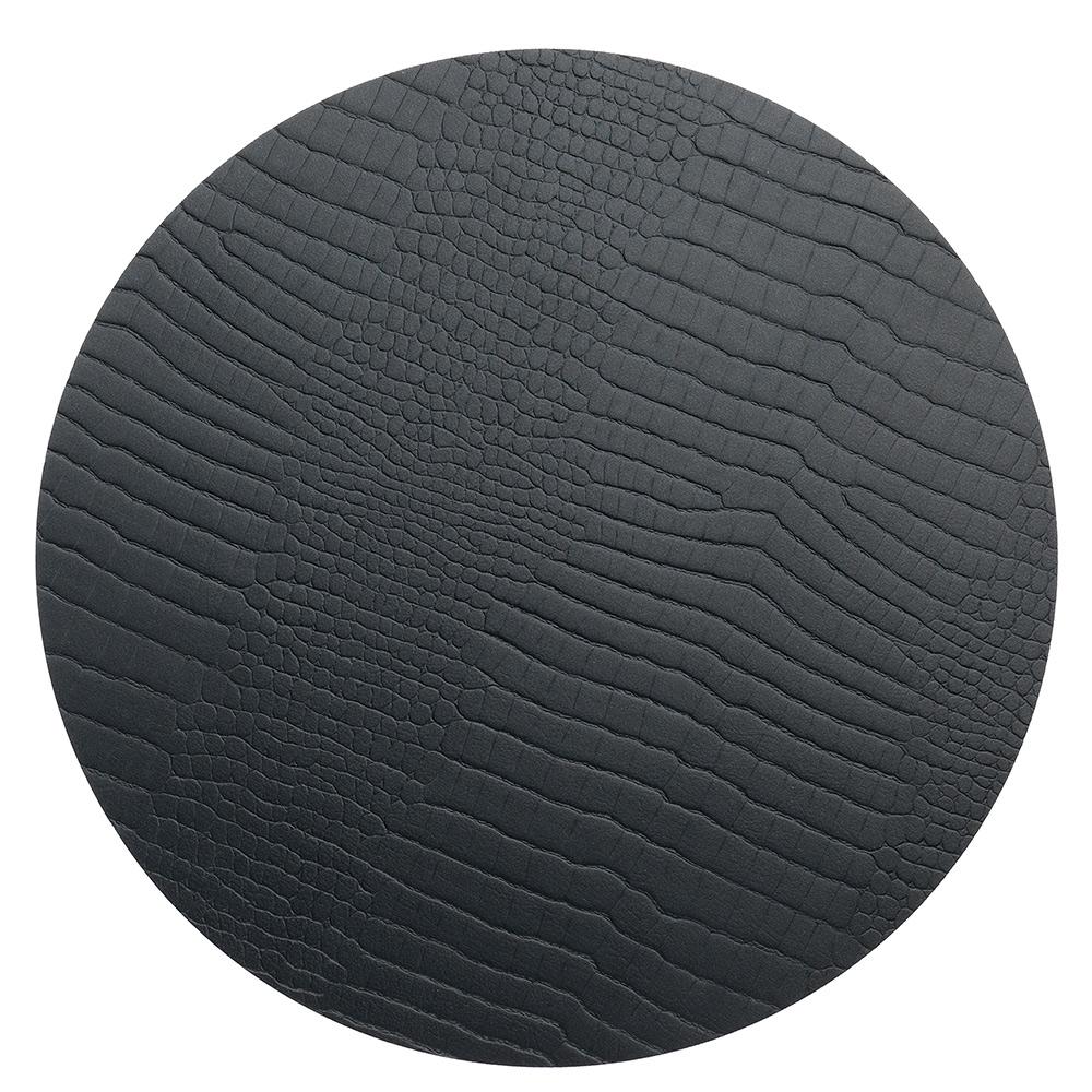 Circle M Grytunderlägg ø30cm Croco Black