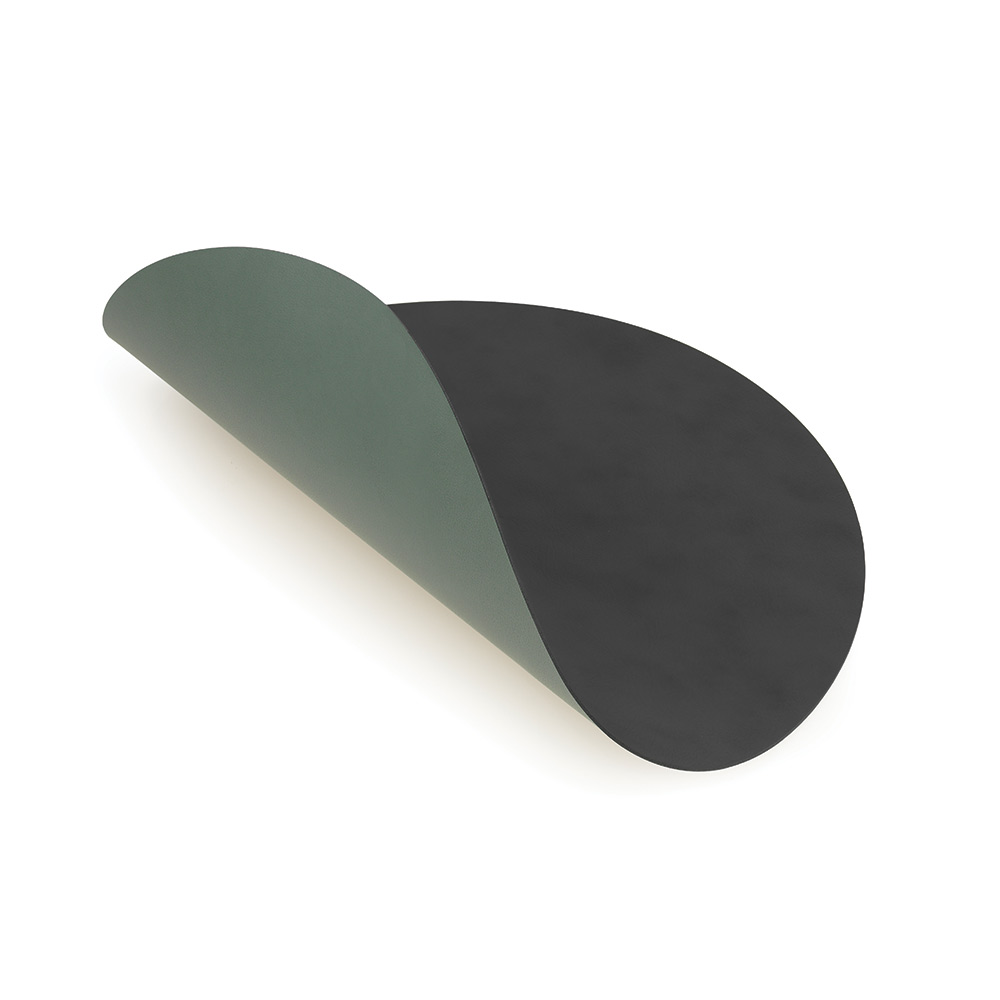 Circle Glasunderlägg ø10cm Anthracite/Green