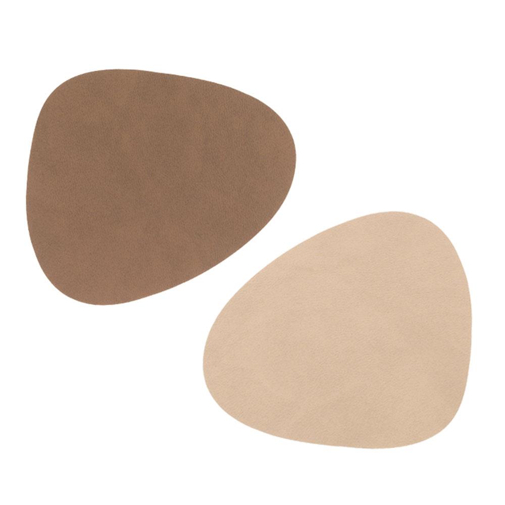 Curve Glasunderlägg 11x13cm Brown/ Sand