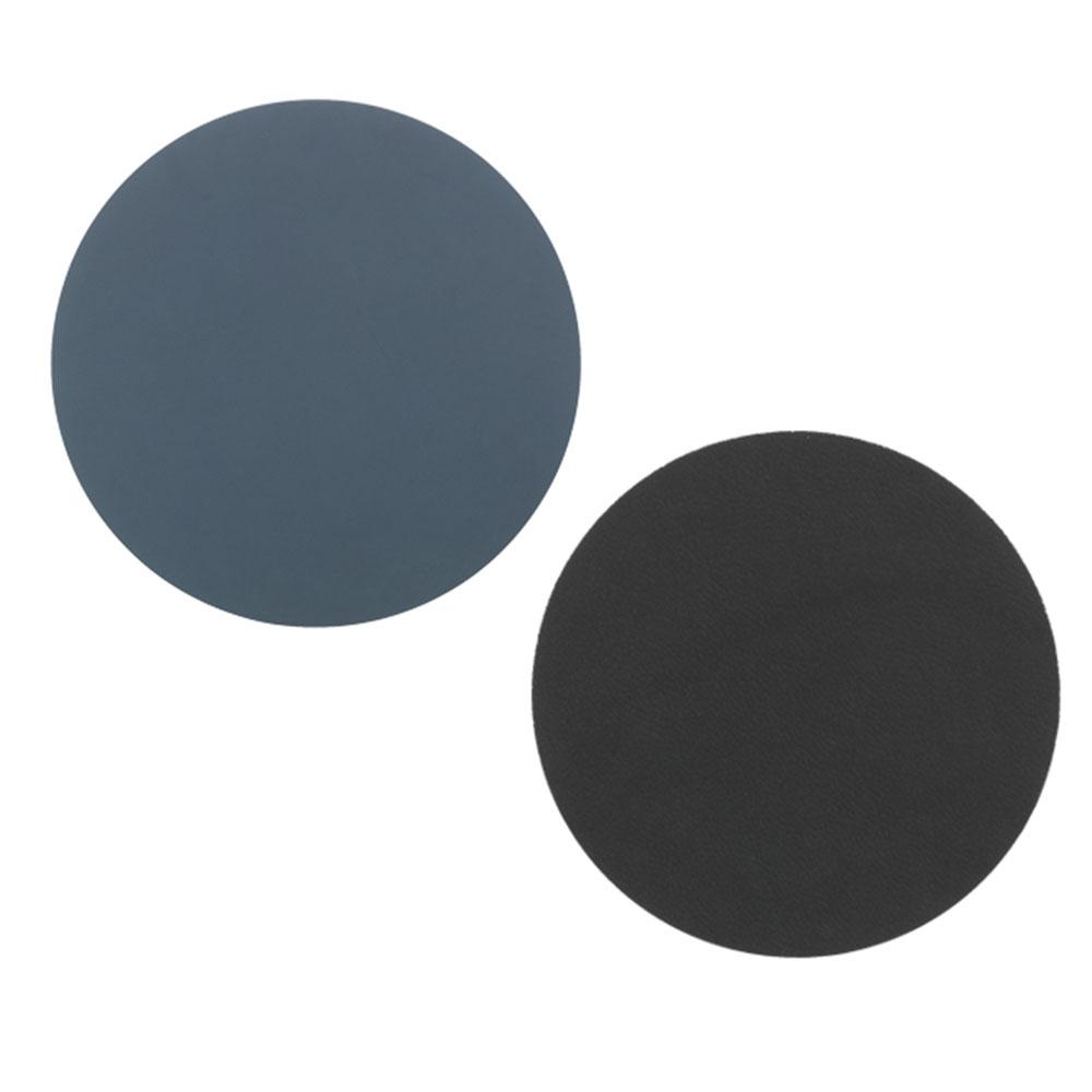 Circle Glasunderlägg ø10cm Dark Blue/ Black