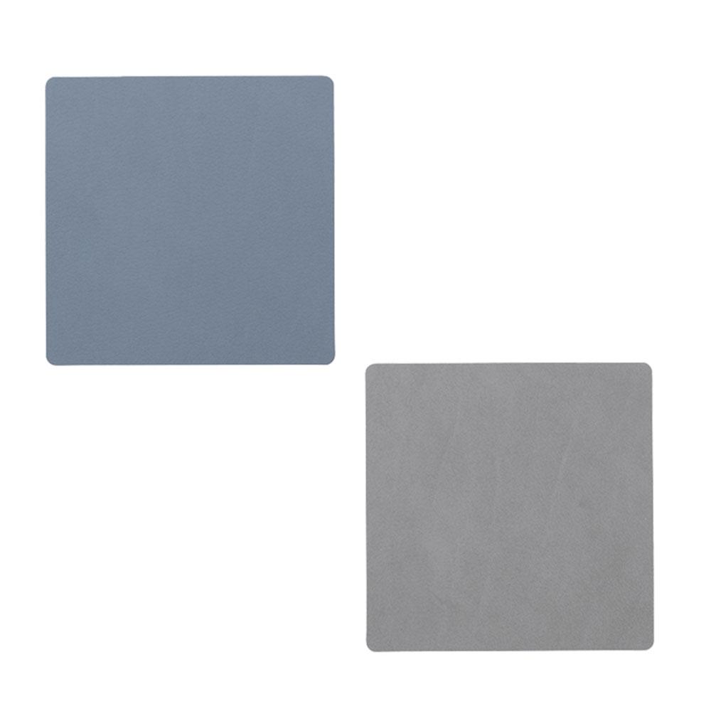 Square Glasunderlägg 10x10cm Light Blue/Light Grey