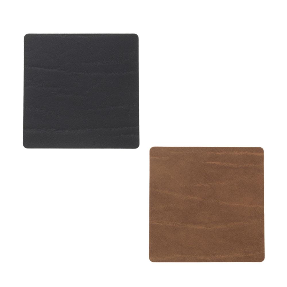 Square Glasunderlägg 10x10cm Black/ Nature