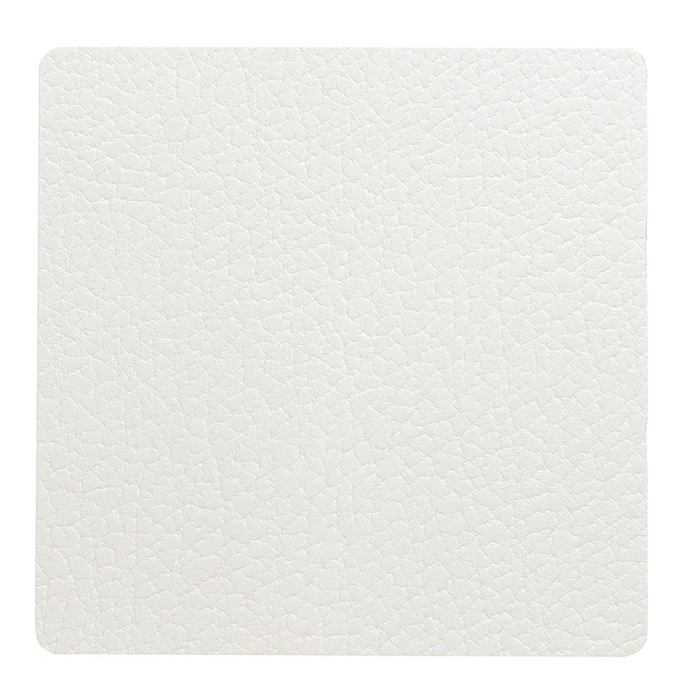 Square Glasunderlägg 10x10cm Bull White
