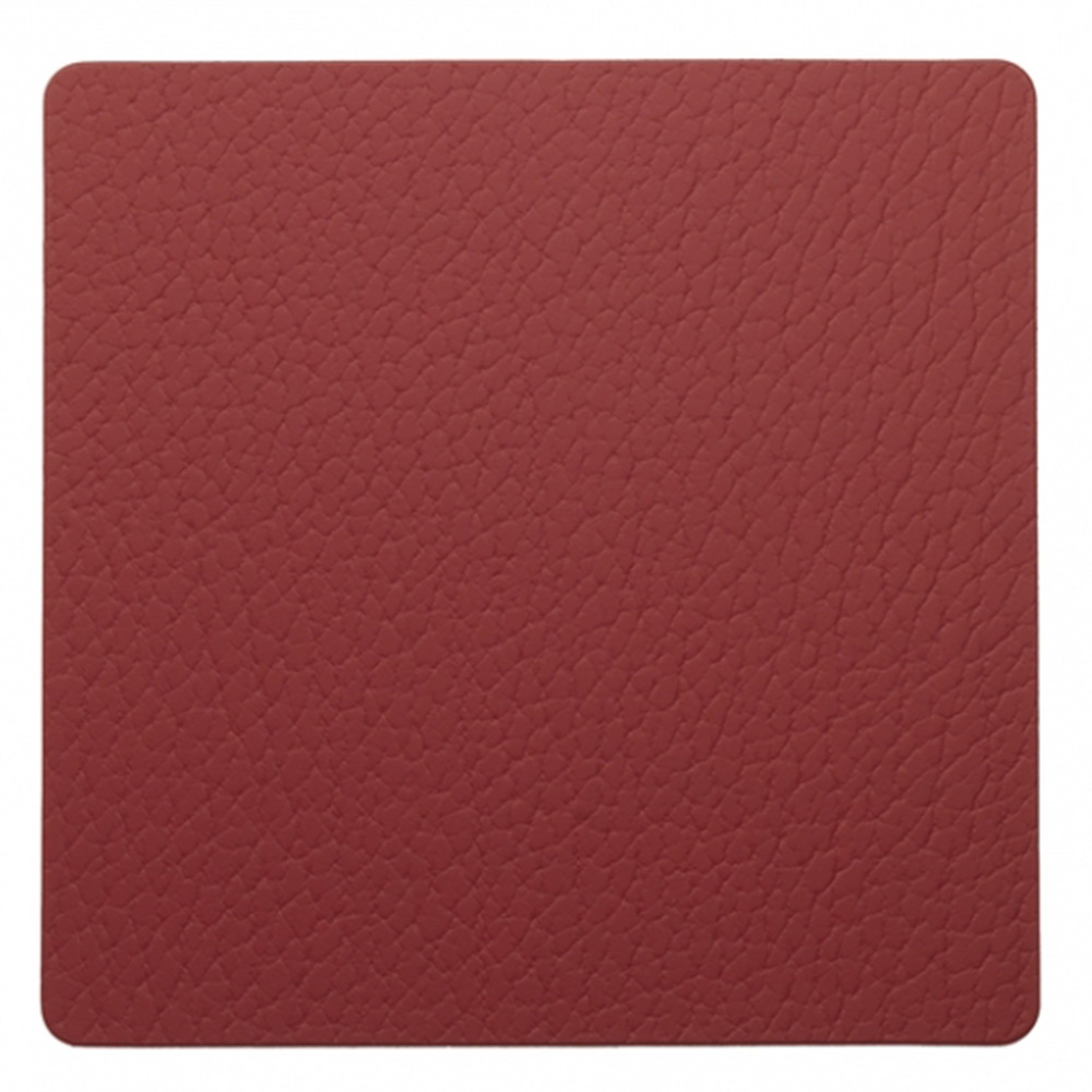 Square Glasunderlägg 10x10cm Bull Red
