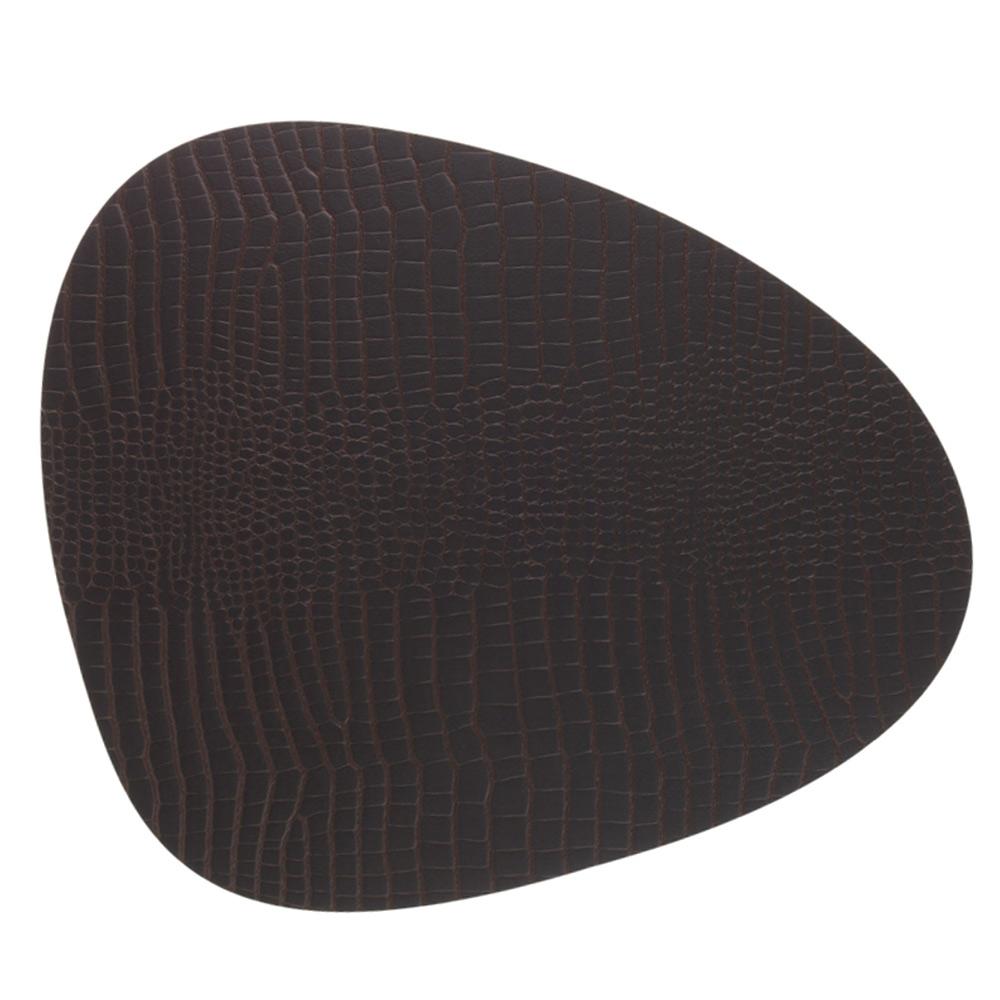 Curve Grytunderlägg 28x34cm Croco Brown