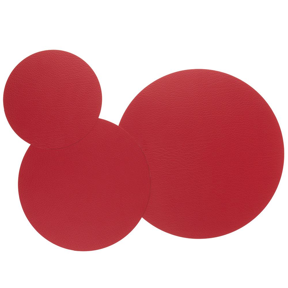Circle Triple Set Grytunderlägg Bull Red