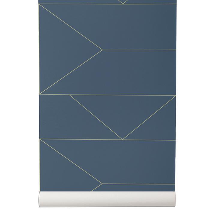 lines tapet m rkbl ferm living ferm living. Black Bedroom Furniture Sets. Home Design Ideas