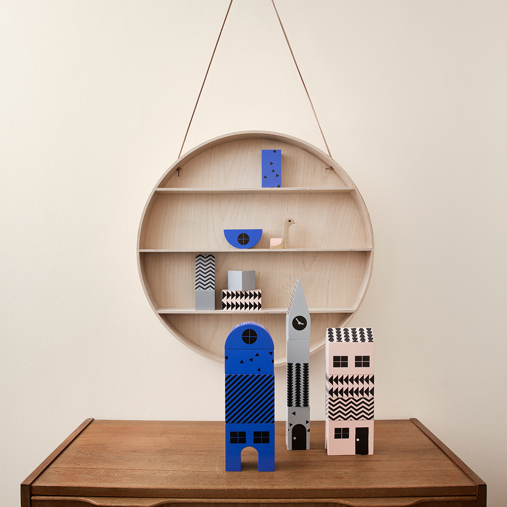 the round dorm hylla 55cm ferm living ferm living kids. Black Bedroom Furniture Sets. Home Design Ideas