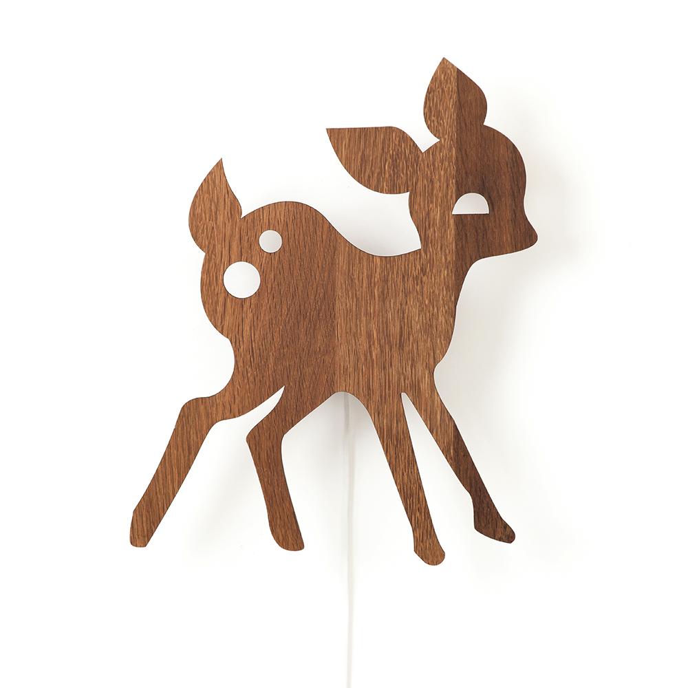 My Deer Vägglampa Rökt Ek
