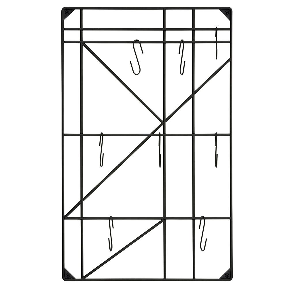 Square Hylla inkl. 8 Krokar, Ferm Living