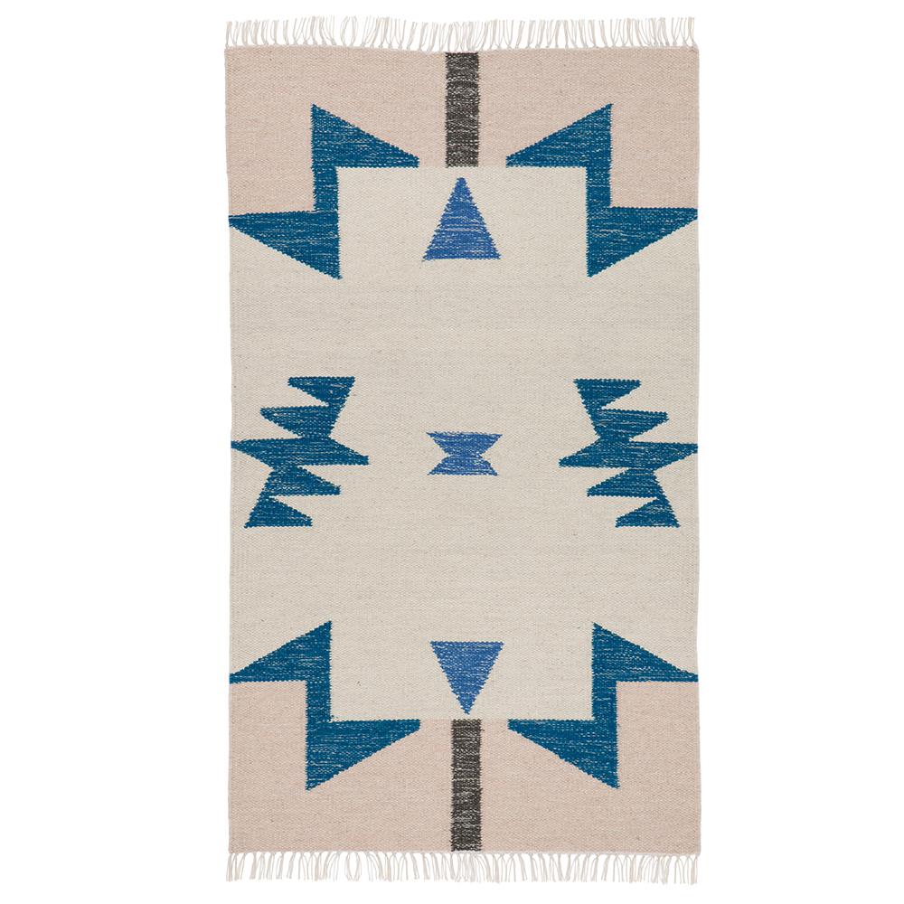 Kelim Blue Triangle Matta 140x80cm