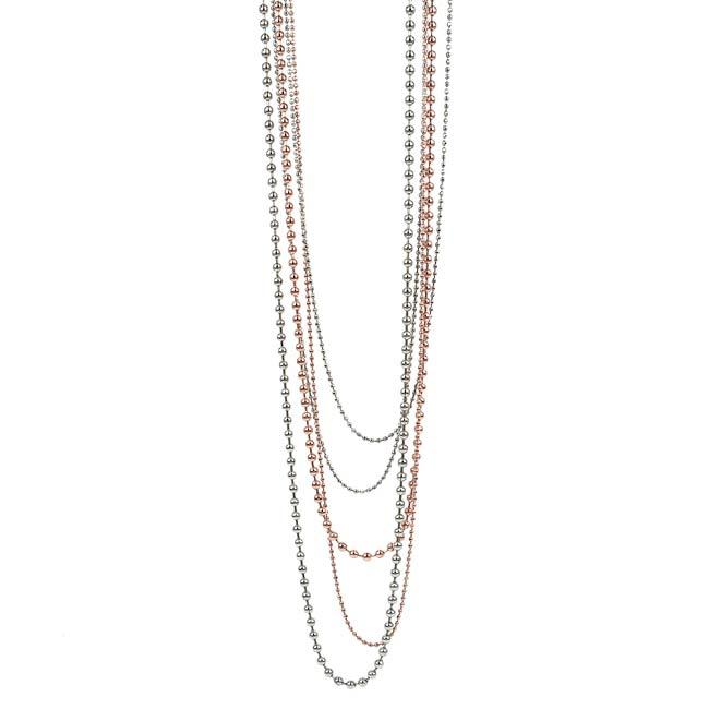 ALINDA Halsband 92cm Roséguld Pläterad