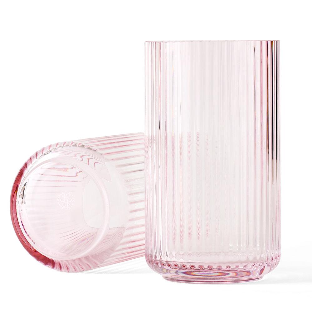 Lyngbyvasen Glas 31cm Rosa