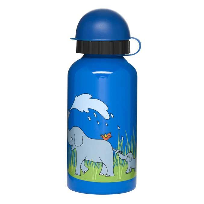 Sagaform Zoo sportflaska 40 cl med elefanter, Blå/grön