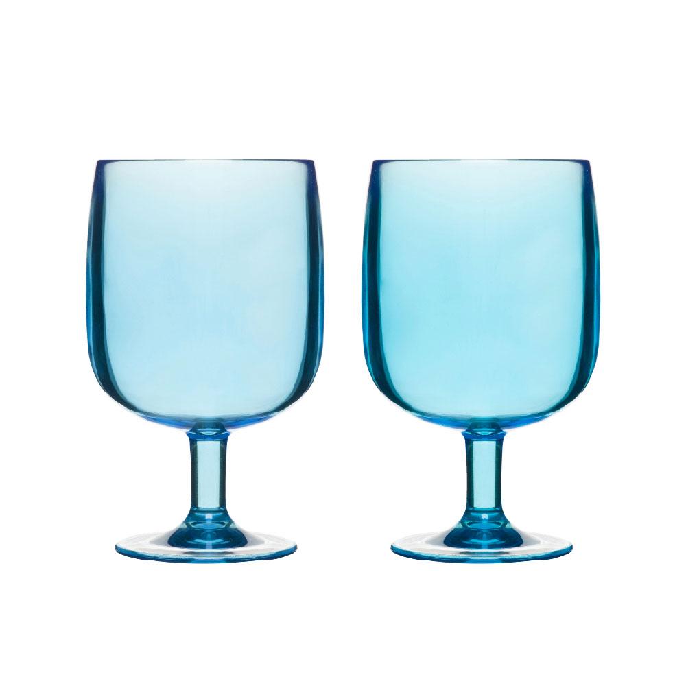 Happy Days Glas 25cl Blå 2-Pack