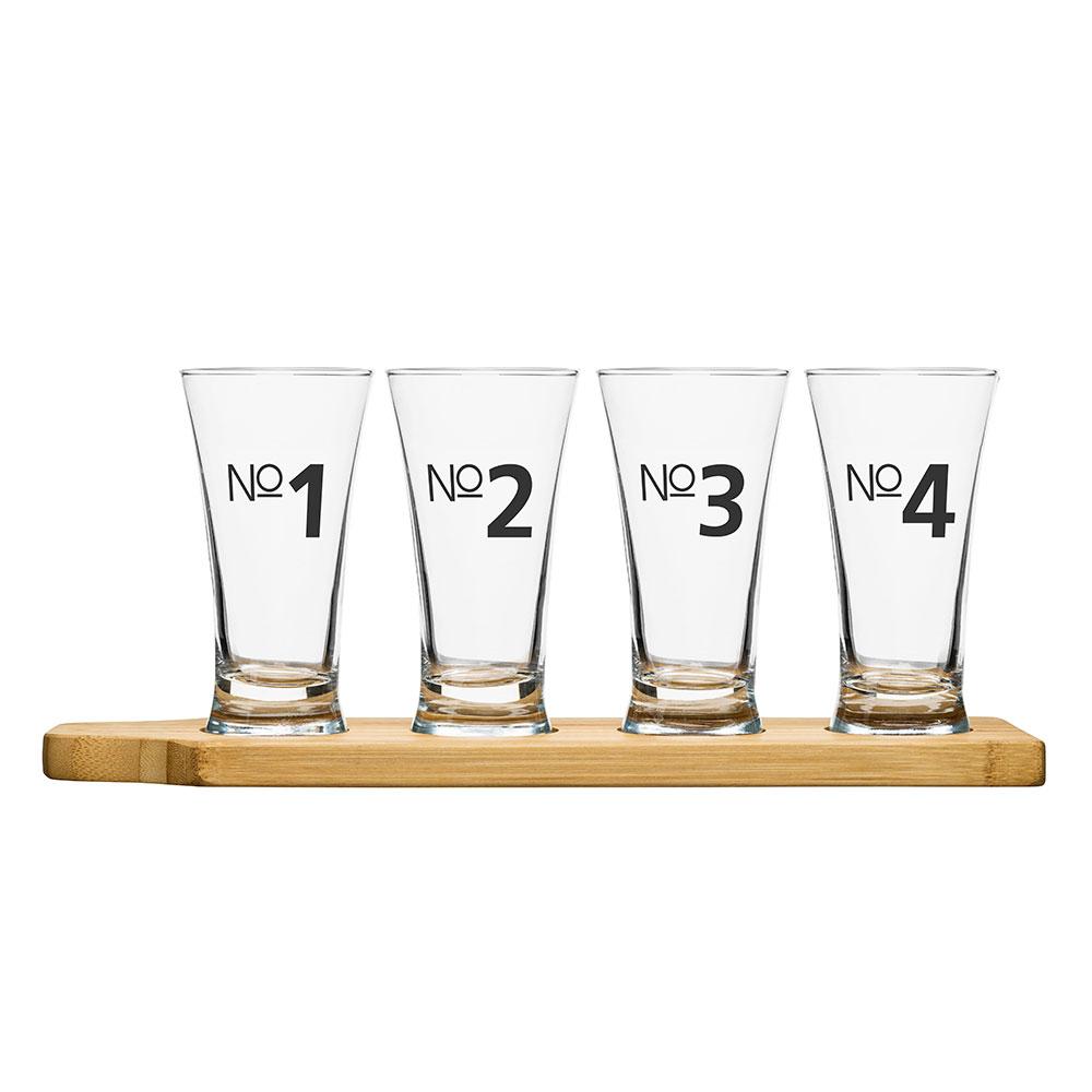 Bar Ölprovarglas På Bambubricka 15 cl