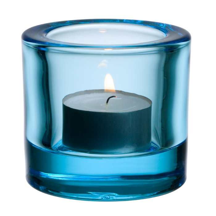 Kivi Ljuslykta Ljusblå 6 cm