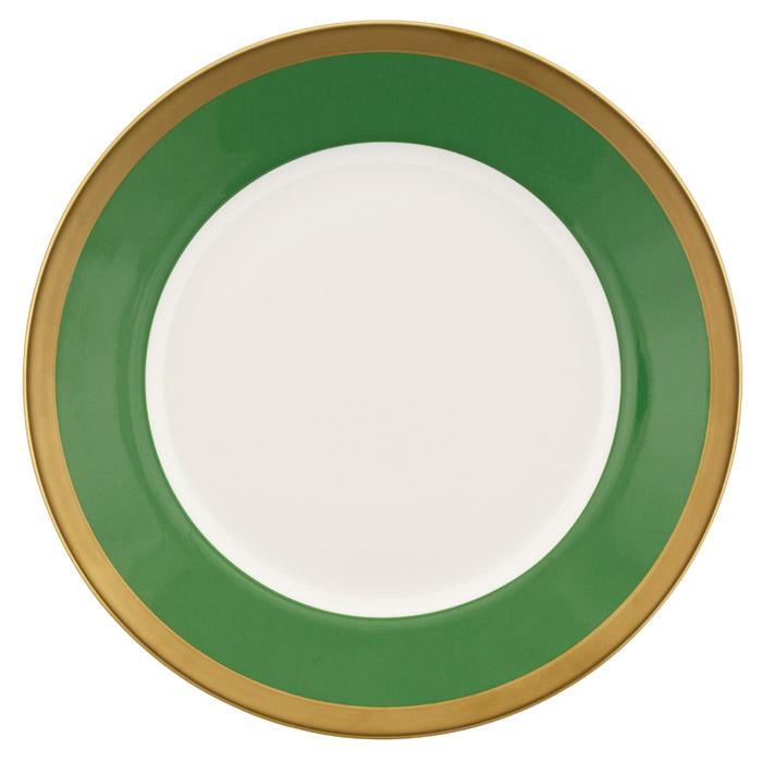 Nobel Tallrik 250 mm Vit/Grön