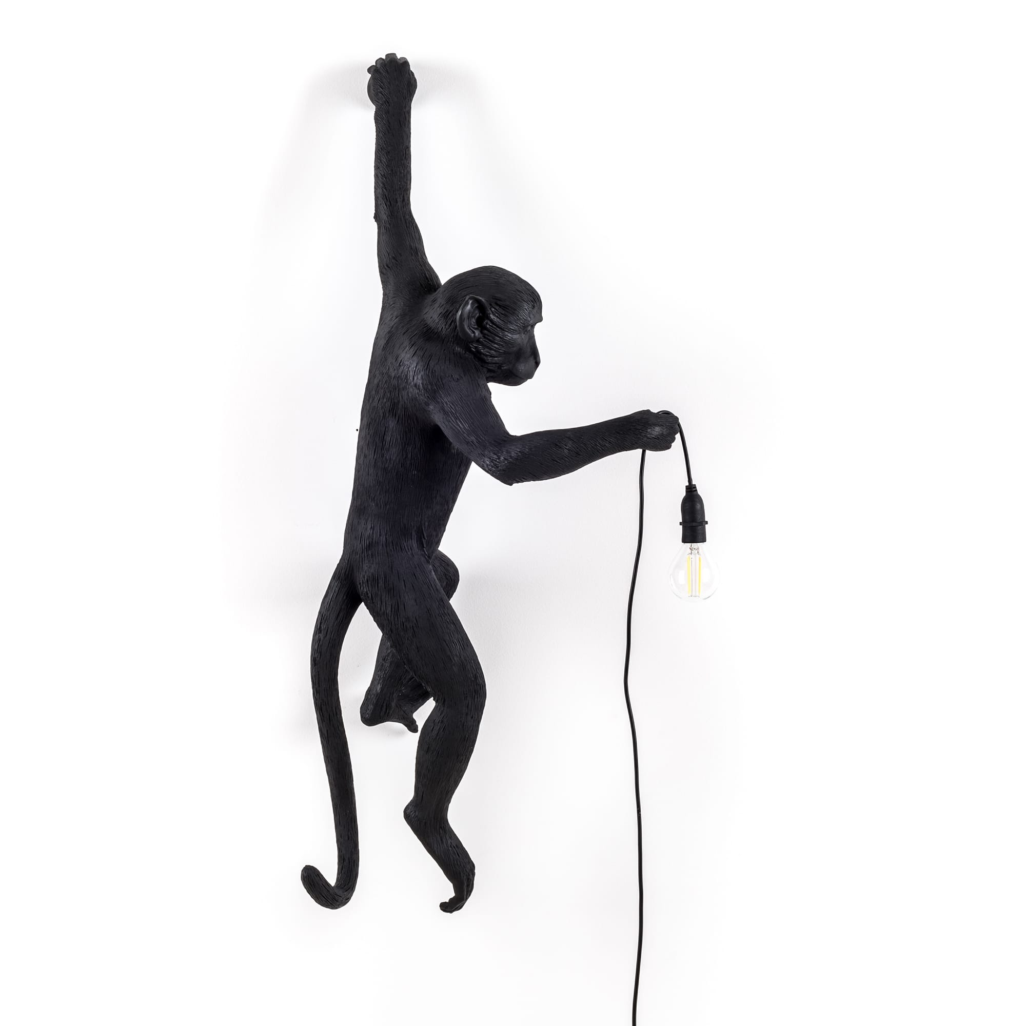 Monkey Lamp Outdoor Hanging, Svart