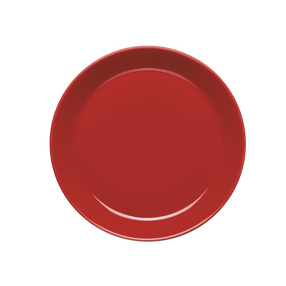 Höganäs Assiett med Kant 20 cm Röd Blank