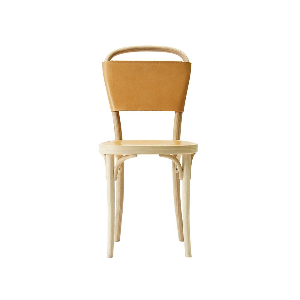 Vilda 3 Stol, Bok/Naturläder, Gemla