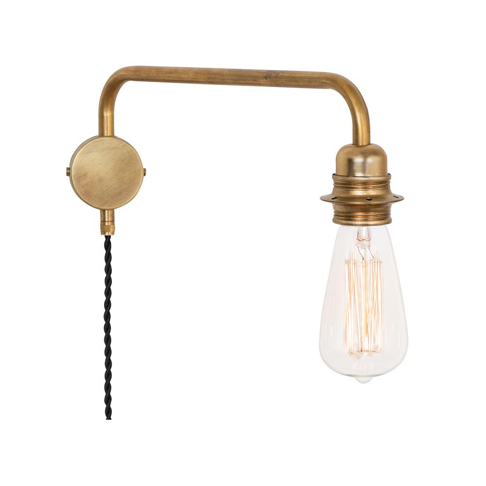 Edison Vägglampa Ner Mässing