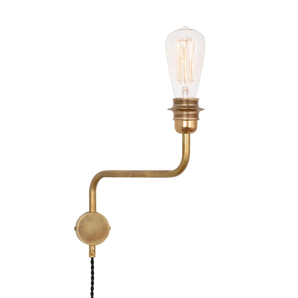 Edison Vägglampa Upp Mässing