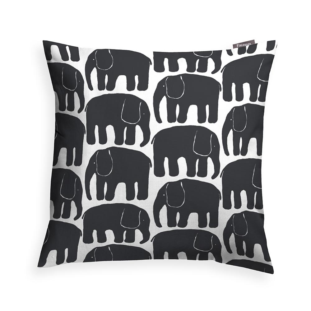 Elefantti Kuddfodral 48x48cm, Svart, Finlayson