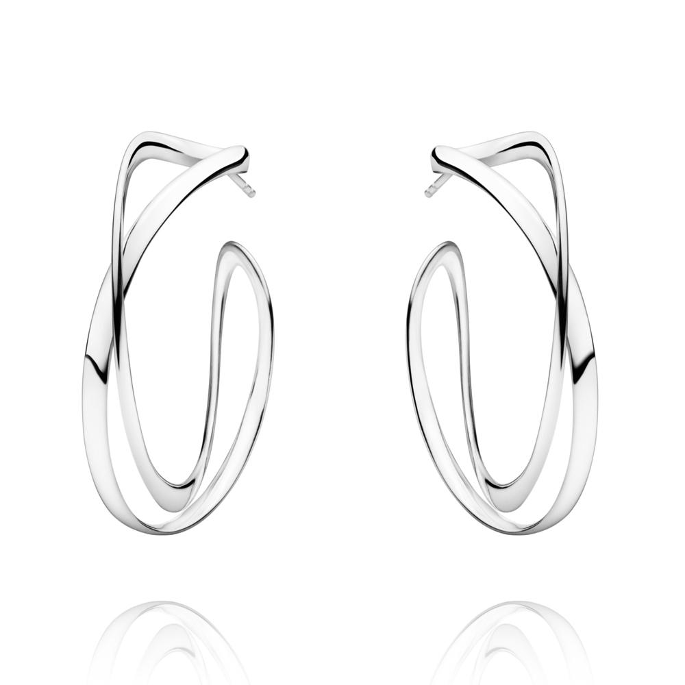 Infinity Silver Örhänge ø 36 mm
